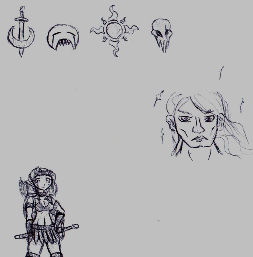 Work Doodles 3 by KarolineDianne