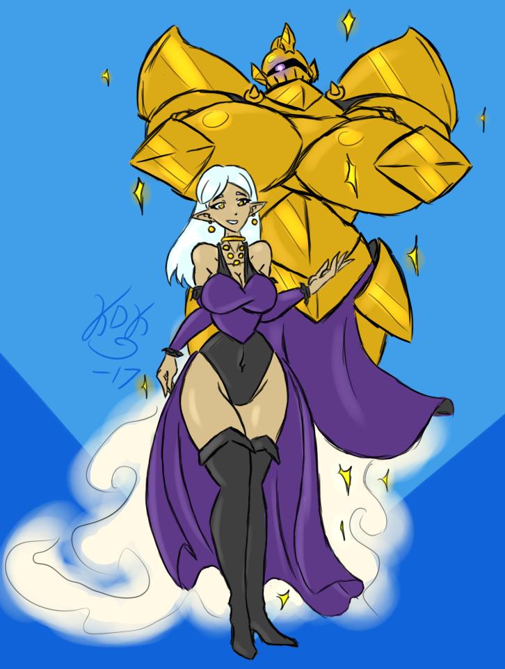 Princess Aurelia and Star Knight by KarolineDianne