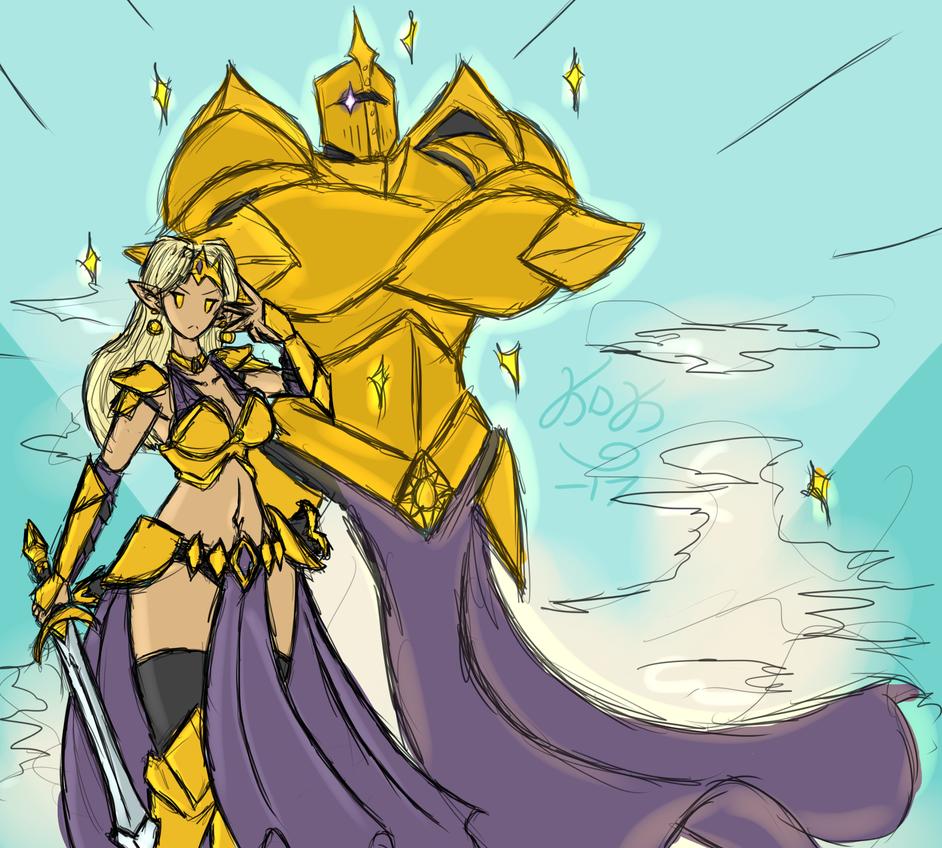 Aurelia and Star Knight (Revised) by KarolineDianne