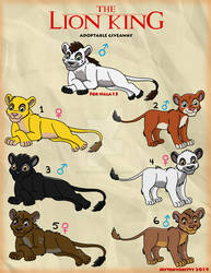 The Lion King Adoptable Giveaway 1