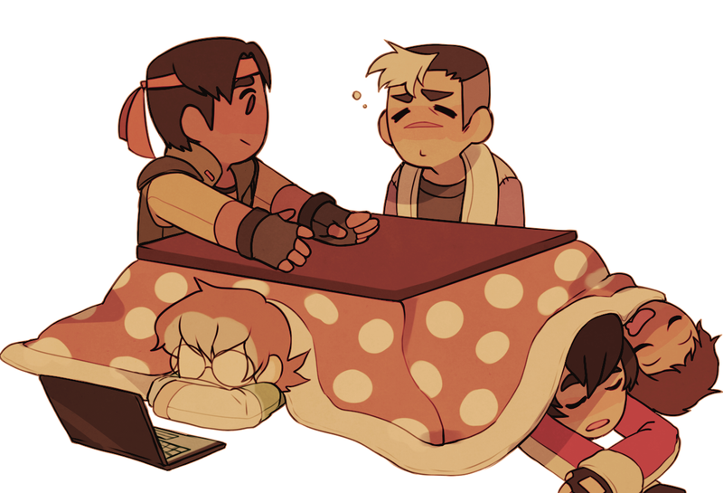 paladins and a kotatsu by yiawe