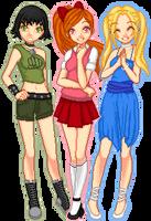 Powerpuff Girls Teens by Kandechan