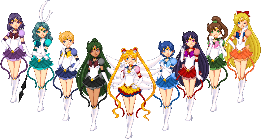 Eternal Sailor Senshi by Kandechan