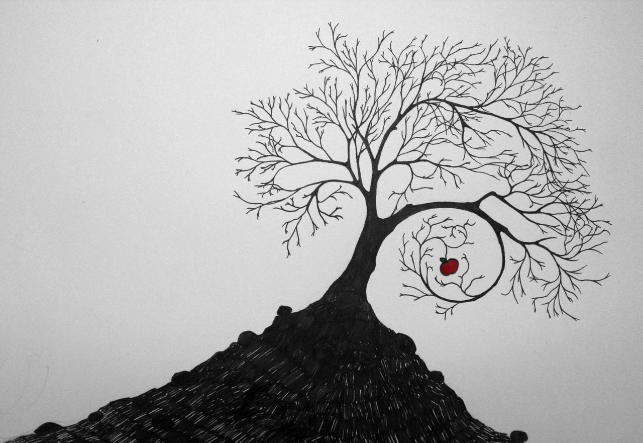 Uncategorized How To Draw A Apple Tree apple tree by skewy on deviantart skewy