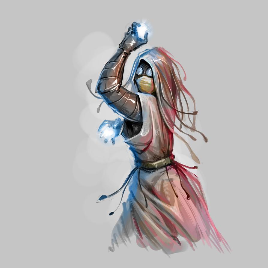 Wizard Sketch by Grafikwork