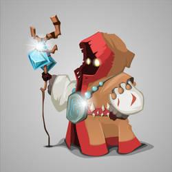 Cartoon wizard character by Grafikwork