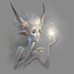 light. Magic fantasy character. by Grafikwork