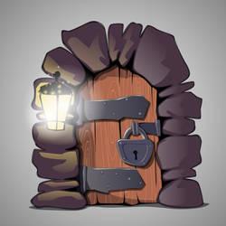 Old door by Grafikwork