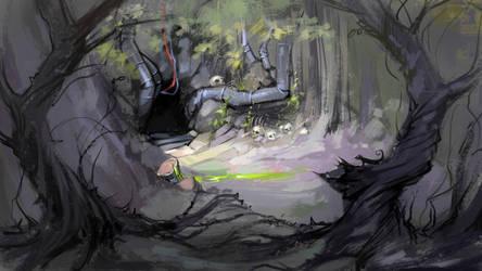 Secret cave by Grafikwork