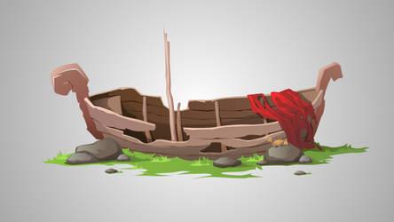 Old Boat by Grafikwork