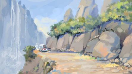 Mountain Road by Grafikwork