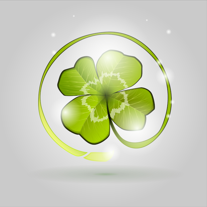 Lucky clover logo by Grafikwork