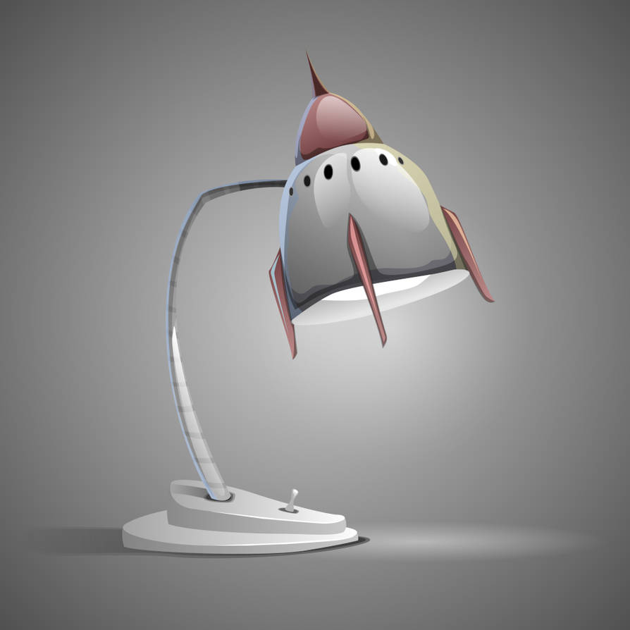 Rocket Lamp by Grafikwork