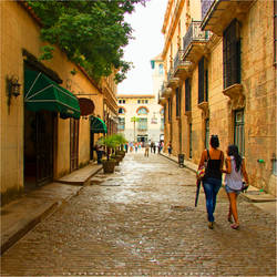 Walking in Havana by Val-Faustino