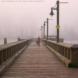 Foggy Morning Walk by Val-Faustino