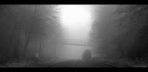 Misty Morning Train by Val-Faustino