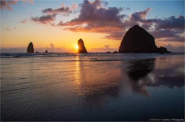 Sunset on the Rocks III