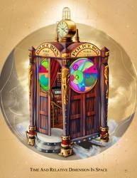 Steampunk TARDIS by Wonderwig