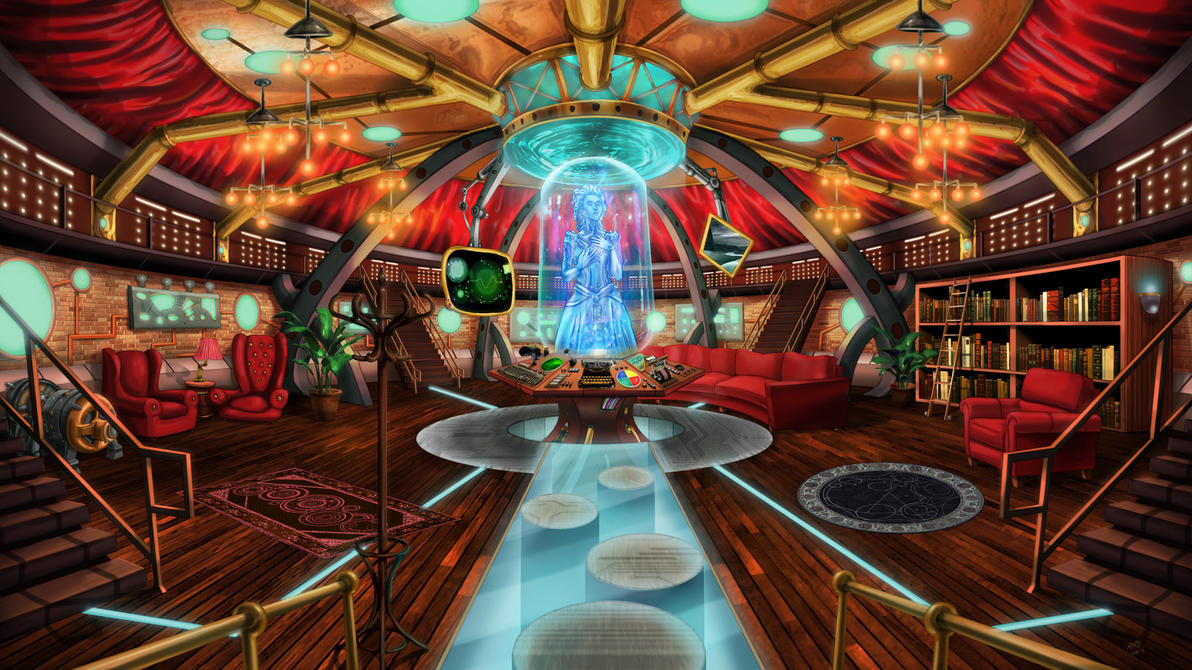 Superior Steampunk TARDIS Interior Console Room By Wonderwig ...