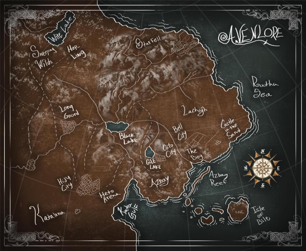 Avenlore - Fantasy World Map by Wonderwig