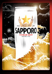 Sapporo at Night by Wonderwig