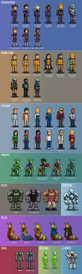 FTL: Kestrel Adventures Races and Uniforms by Wonderwig