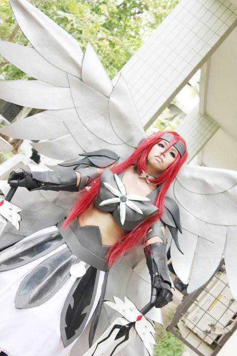 Fairy Tail Erza Heavens Wheel Armor Cosplay