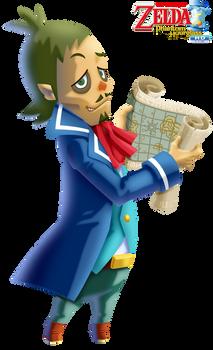 TLoZ: Phantom Hourglass HD - Captain Linebeck
