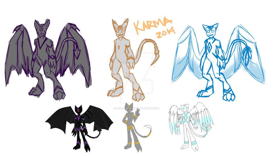 Character Improvement: Karma by AnimePeep33