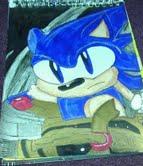 Classic Sonic the Hedgehog in Black Knight by bluestreak1050