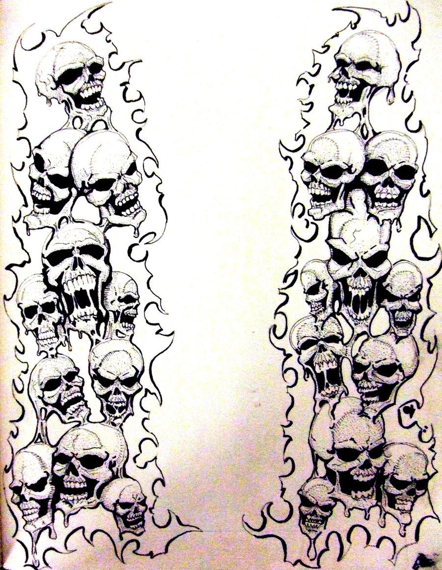 melting skulls by bobbyjackwright on deviantart. Black Bedroom Furniture Sets. Home Design Ideas