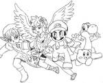 Super Smash Bros - Team Mario