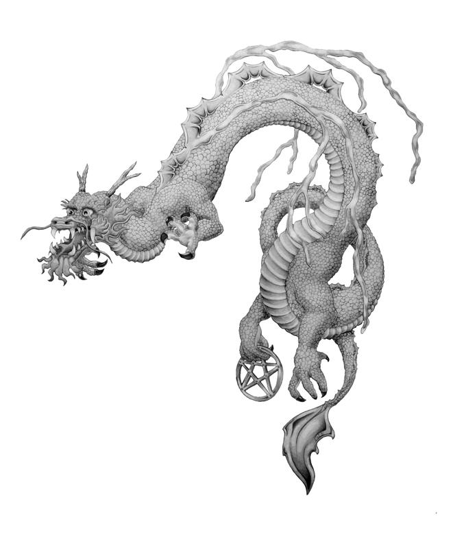 Dragon Tattoo - chest tattoo