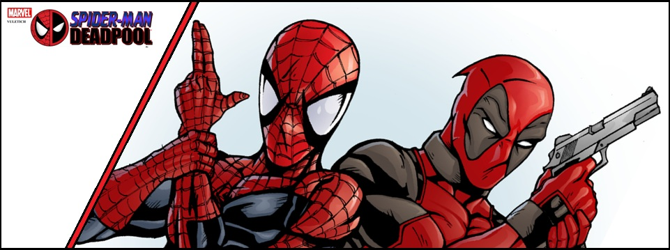 Deadpool And Spider Man Banniere By Quebecgirl14