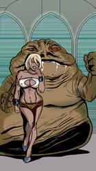 Powergirl: Jabba's pet by randomnicity7