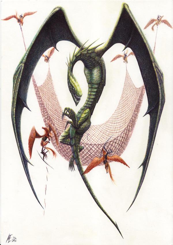 dragonhunting by MaltePawelek