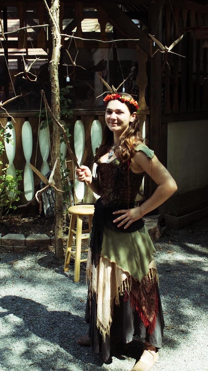 Renaissance Fair Bird Lady by Tauris-Drakkuss