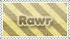 Rawr Stamp by EternalxRequiem