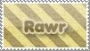 Rawr Stamp by EternalxRequiem