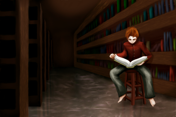 In the Library by midenian-lostie