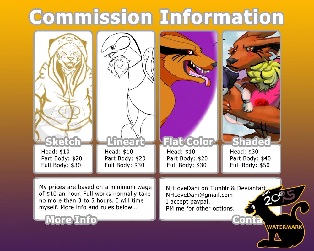 Dani's Commissions! by NHLoveDani