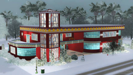 Christmas Art Deco House