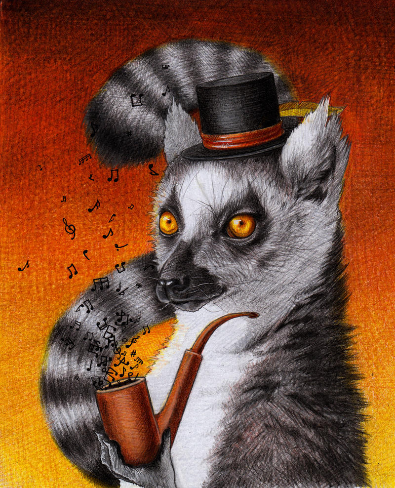 A Fine Young Lemur With a Pipe by youngmoons