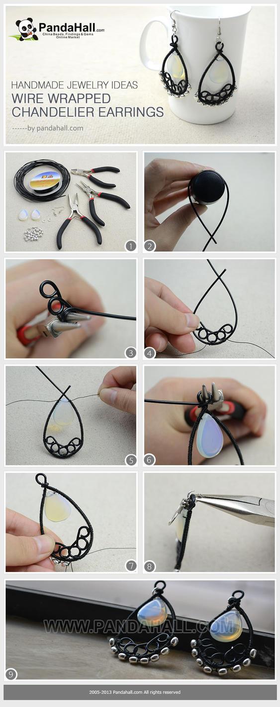 Handmade Jewelry Ideas Wire Wrapped Chandelier By