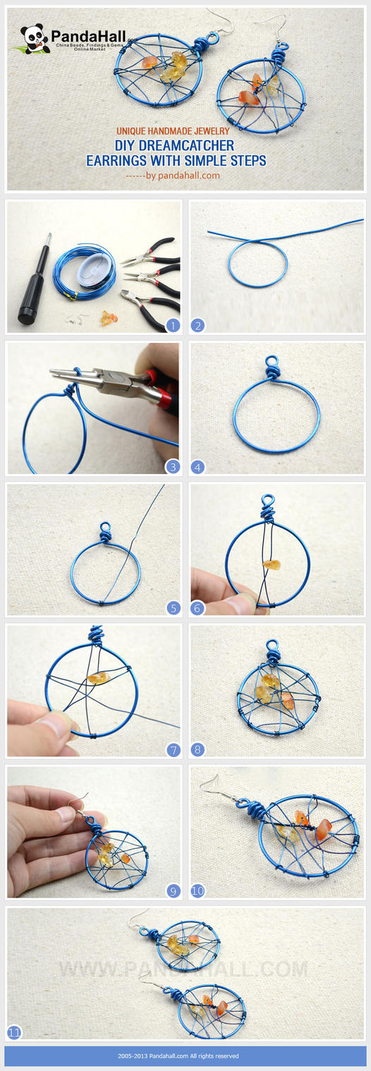 Diy dreamcatcher earrings in 3 simple steps by jersica11 for Easy to make dream catchers