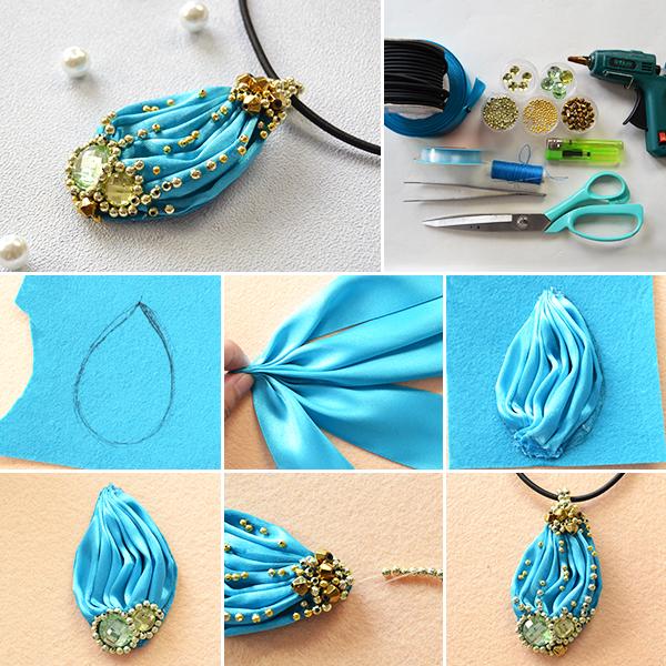 How to make a shibori ribbon pendant necklace by jersica11 on deviantart how to make a shibori ribbon pendant necklace by jersica11 mozeypictures Images