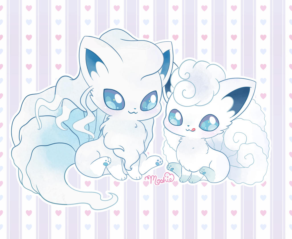 Chibi Vulpix and Ninetales (Alola forms) by iMoshie on DeviantArt