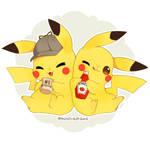 Ash's Pikachu and Harry's Pikachu