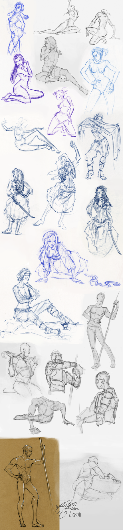 2011 Life Drawings by linkfreak131