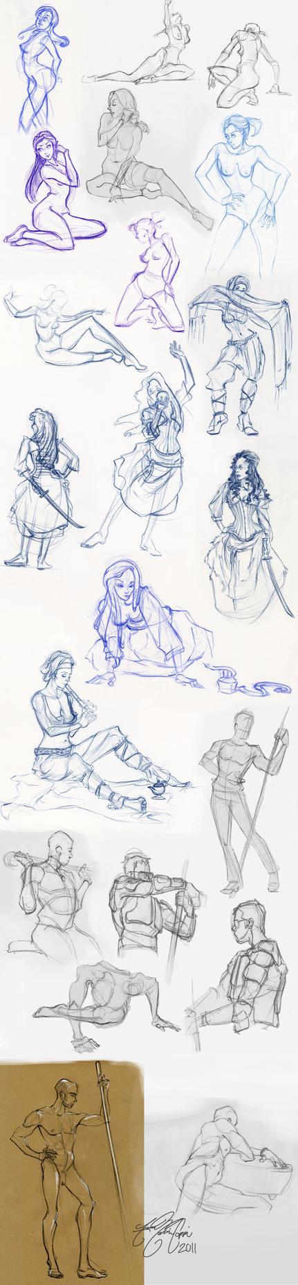 2011 Life Drawings by linkfreak131